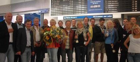Ankunft WM-Ruderer 2011 - 1
